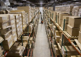 Packed Goods in Warehouse